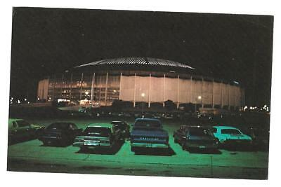 Chrome, Houston Astrodome at night, exterior  ID#  P17021, postmarked Feb 5,1980