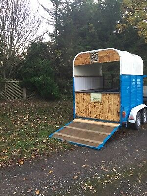 Converted Rice horse box trailer vintage catering food trailer - be different!!