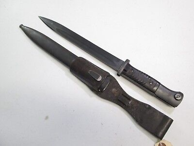 Wwii German K98 Mauser Combat Bayonet W Matching Numbers On Blade Scabbard #w66