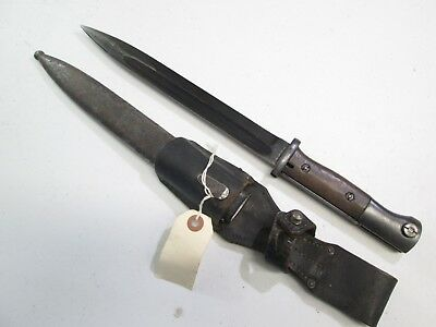 Wwii German K98 Mauser Combat Bayonet W Matching Numbers On Blade Scabbard #z295
