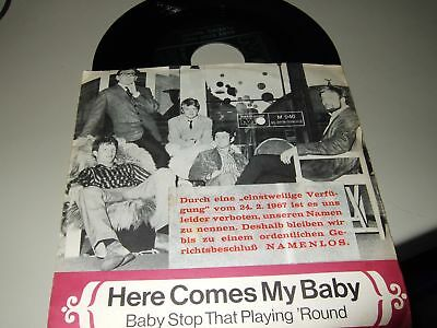 "The Trembles : Here Comes My Baby 7"" 1967 Metronome Germany"