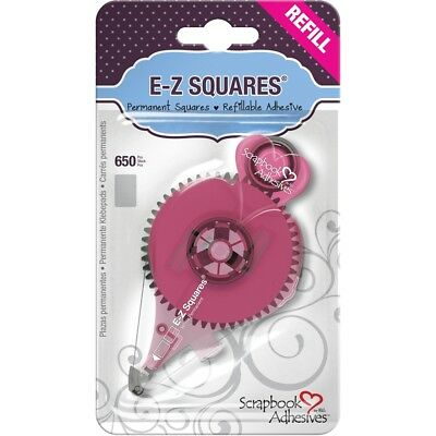 Scrapbook Adhesives E-z Squares Refill 650/pkg-permanent, Use In 12066