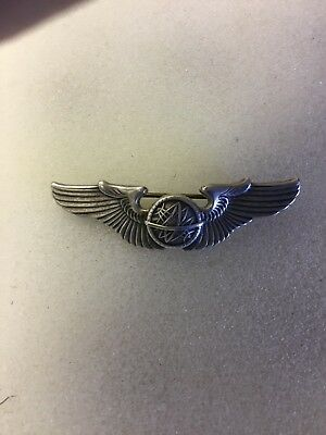 WWII United States Army Air Corps Navigator  Wings Insignia Pin Sterling