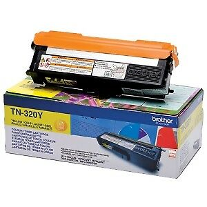 NEW! Brother Tn-320Y Original Toner Cartridge Yellow Laser 1500 Pages 1 / Pack