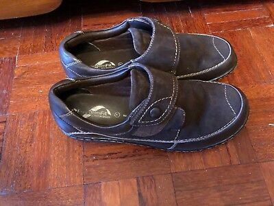 New Shuropody Freedom Fit Brown Leather & Suede Comfort Shoes Sz 7 E