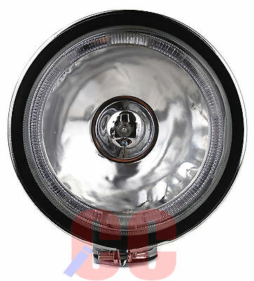 "2X 6"" 12 Volt Spotlight Halogen Lamp LED Angel Eye Head Light Fog Car Van White"