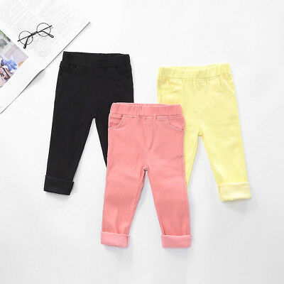 Toddler Candy Color Leggings Baby Boys Girls Trousers  Pants  Clothing B1