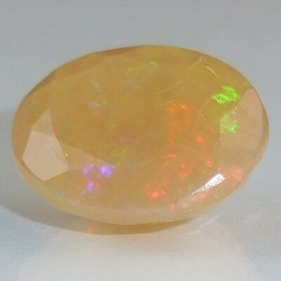 "Farbenfroher ""play Of Colour"" Opal Multicolor Oval 2,52 Ct Vs"