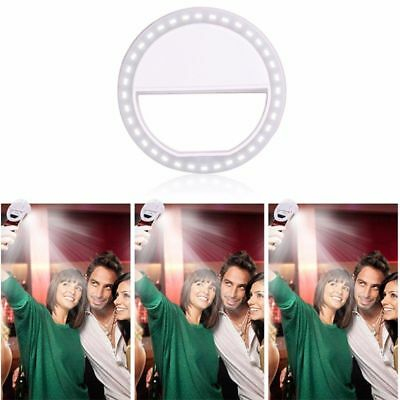 Portable Selfie 36 LED Ring Flash Fill Light Clip Camera iPhone Mobile Phone