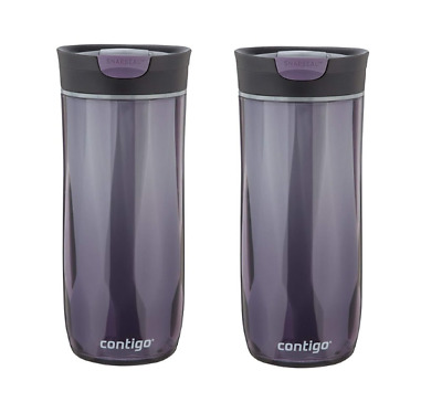 2 Pack Contigo Byron Snapseal Travel Mug Water Bottle Sale Violet 16 Oz