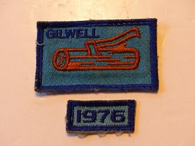 Used Vintage Blue GILWELL Wood Badge Boy Scout Patch with 1976 Segment