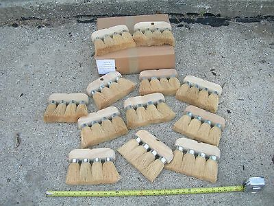 12 NEW ROOFING BRUSH 4 KNOT 8x6 3/4 MASONRY UTILITY CLEANING ROOF TOOL BRUSHES