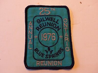 1976 25th Annual Giwell Reunion Wood Badge Ontario Scouts Canada Boy Scout Patch