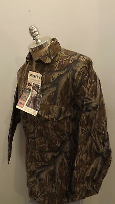 43218c394f792 Vtg NEW Mossy Oak Original Tree Stand Camo Shirt sz M USA Made Cotton  Chamois