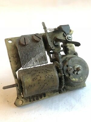 Antique Musical Box Movement Working Order With Key