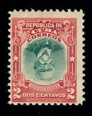 MOMEN: US POSSESSIONS STAMPS #240a INVERTED CENTER 2cCUBA MINT OG H