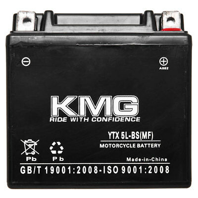 YTX5L-BS KMG Maintenace Free 12 Volt Battery Powersport Sportbikes Cruisers SMF