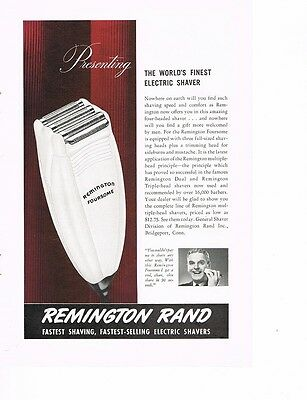 REMINGTON RAND The World's Finest Electric Shaver 1941 Color Ad