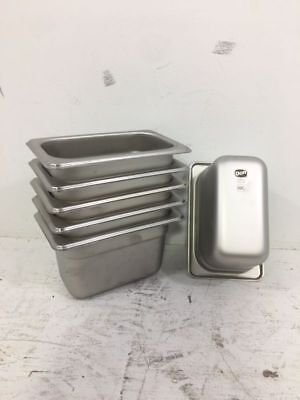 """Lot Of 6 Stainless Steel 18/8 """"don"""" Steam Table Pan 1/9 Size-4"""" Inch K9820"""