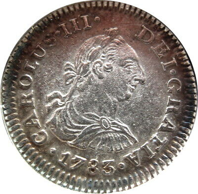 1783 Mo-FF 1/2 Real Colonial Currency Ch. AU Condition - Z - XNP