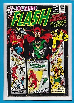 THE FLASH #178_MAY 1968_FINE+_GREATEST TEAM-UPS_SILVER AGE DC 80 Pg GIANT_G-46!
