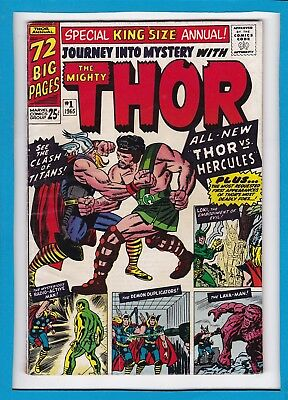 JOURNEY INTO MYSTERY SPECIAL KING SIZE ANNUAL #1_1965_FINE_THOR_1st APP HERCULES
