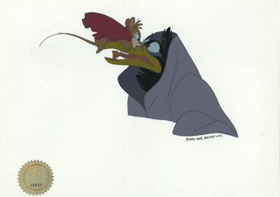Don Bluth Mrs Brisby Secret of NIMH 1982 production animation cel LJE Seal COA