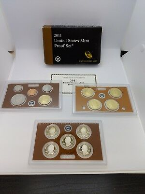 2011 United States Mint PROOF Set - 14 Coin Set - Box & COA Included