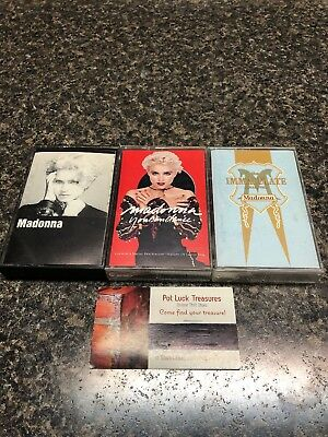 Lot of 3 Madonna cassette tapes Madonna, You Can Dance & Immaculate Collection.