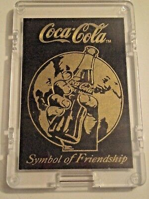 "Coca Cola 1994 Brass Etched Card -Series 3 ""Symbol of Friendship"" Case Card"