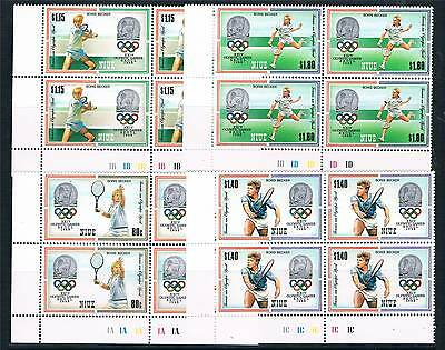 Niue 1987 Olympic Games PLATE BLK 4 SG 649/52 MNH