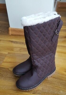 ca62dbca9 ELLA SHOES LADIES Brown Warm Fur Fleece Lined Flat UK 7 Boots BRAND New
