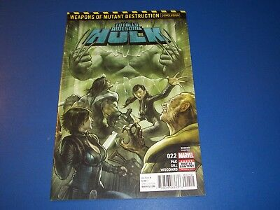 Totally Awesome Hulk #22 2nd print variant 1st Weapon H Key VF+ Beauty Wow