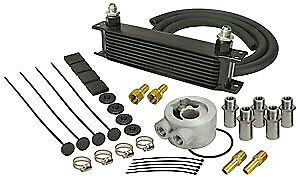 Derale 15602 Engine Oil Cooler With Sandwich Adapter Kit