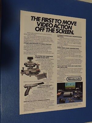 Vintage 1985 Nintendo video games & console print ad Duck Hunt **FREE SHIPPING**