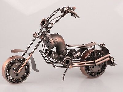 Creative China Iron Motorcycle Sculpture Home Decoration Fashion Art Collection