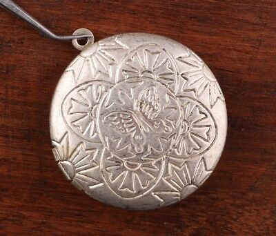 Vintage Chinese Tibet Silver Pendant Photo Box Sacred Mascot Collection