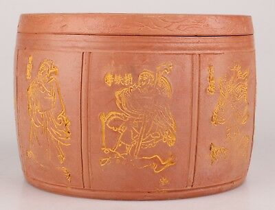 Vintage Chinese Ceramic Teapot Tea Caddy Seal Large Size Home Collection Gift