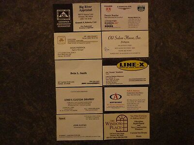 Lot 10 Business Cards Holmen & West Salem Wisconsin WI