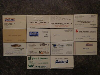 Lot 14 Business Cards Onalaska Wisconsin WI Realtors & Insurance Companies