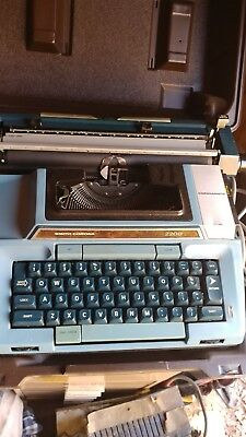 Vintage Smith Corona Coronet Super 12 Portable Electric Typewriter W/Case WORKS