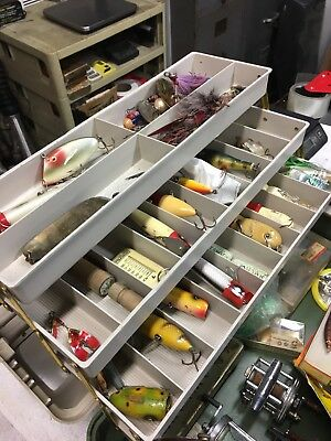 Vintage Plano 8600 Tackle Box Lures Reels Full Of Lures