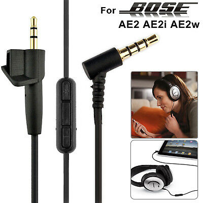 Original Audio Aux Cable Cord Mic For BOSE QuietComfort AE2 QC15 25 Headsets