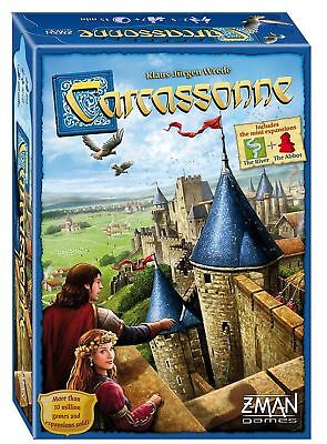 Carcassonne Board Game A card game played by friends at a party free shipping