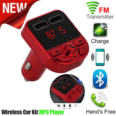 Bluetooth Car FM Transmitter Wireless Radio Adapter USB Charger Mp3 Player R2