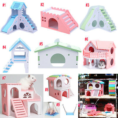 Eco Board Pet Hamster Slide Stairs Small Animals Villa Bedding Cage House Nest