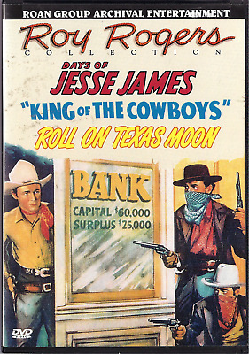 Roy Rogers: Days Jesse James; King of the Cowboys; Roll on Texas Moon, DVD, Roan