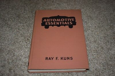 Automotive Essentials by Ray Kuns 1958 vintage votech textbook