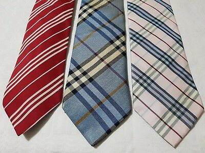 Burberry London lotto 3 Cravatte vintage Tie Burberry London vintage ba3d7de7acd