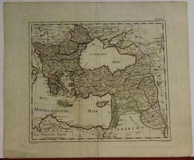 Greece Macedonia Balkan Countries Middle East 1795 Sotzmann Unusual Antique Map